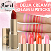 FINAL SALE! 1 DAY SPECIAL! ★3rd Restock★Delia Creamy Glam Lipsticks from Europe.