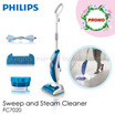{BEST OFFER-FREE Replacement kit for another 6 MTHS usage worth $29.00}/Philips Sweep and Steam Cleaner FC7020/1500W for powerful Steam Plus/SINGAPORE LOCAL Set/ 2 YEARS INTERNATIONAL WARRANTY