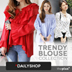 ★FREE shipping★korea dailyshop ★ One Day SALE!! ★Flower Blouse/Loose Fit  Blouse / High Quality