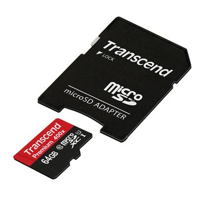 正規国内販売代理店・クロネコメル便送料無料・メカ永久保証メカサポト対応トランセンド[Transcend]TS64GUSDU1P[64GB]Class10読み出し速度が最大60mbs