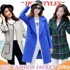 2015 NEW Overcoat【Aug. update】Dust coat / Women Coat / Fur Jacket / Spring Autumn Winter Jacket / Outerwear / Short coat / Pure color coat / Woolen
