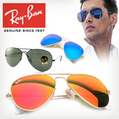 Ray-Ban Unisex Aviator Sunglasses 100% Authentic Free shipping UV protection Polarized Disgner Glasses Optical Frame Fashion Goods  Asian Fit EYESYS