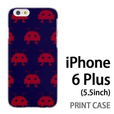iPhone6 Plus (5.5インチ) 用『0709 インベーダー赤ドット』特殊印刷ケース【 iphone6 plus iphone アイフォン アイフォン6 プラス au docomo softbank Apple ケース プリント カバー スマホケース スマホカバー 】の画像