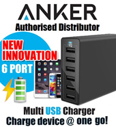100%Authentic Anker MultiUSB Charger /SPEEDY Multi-USB charger /Compatible with iphone/ipad/samsung/Xiaomi/Lenovo/Asus/tablets/powerbank/Wall charger/Fast Charging Cable/Aukey/ Quick Charge