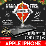 Nanotech Tempered Glass Screen Protector Apple iPhone X/8 Plus/8/7+/7/6+/6/5/SE/5/4/ Watch 38mm 42mm