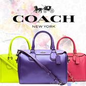 COACH コーチ 2way ショルダーバッグ ミニボストン カーキ×クラシックレッド PVC×レザー f36702ime7p 【Luxury Brand Selection】アウトレット買い付け