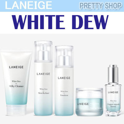 ?LANEIGE?White Dew Line/Original Ampoule Essence/Skin/Emulsion/Tone Up Cream /Cleanser/Eye Deals for only S$29.5 instead of S$0