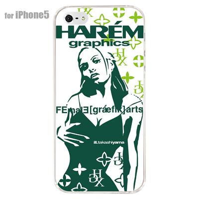 【iPhone5S】【iPhone5】【HAREM graphics】【iPhone5ケース】【カバー】【スマホケース】【クリアケース】 HGX-IP5C-022Cの画像