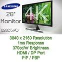 [ HOT DEAL ] SAMSUNG 4K UHD MONIOTR U28D590 TN 28 inch Monitor / 3840x2160 / PIP / PBP / 1ms / 16:9 / 2 HDMI / DP Port / 10bit / GAME MODE
