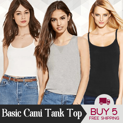 New Collection Basic Cami Tank Top Deals for only S$12.73 instead of S$0