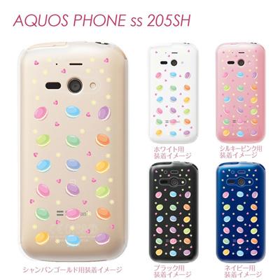【AQUOS PHONE ss 205SH】【205sh】【Soft Bank】【カバー】【ケース】【スマホケース】【クリアケース】【クリアーアーツ】【スイーツ】 09-205sh-sw0001の画像