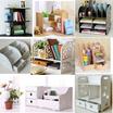 [SG Seller] Home multi-purpose desk shelf/organizer units for stationery/cosmetics/decoration/Wooden Organizer/Table Organizer/Office Rack