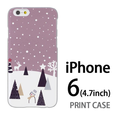 iPhone6 (4.7インチ) 用『1210 雪景色 灰』特殊印刷ケース【 iphone6 iphone アイフォン アイフォン6 au docomo softbank Apple ケース プリント カバー スマホケース スマホカバー 】の画像