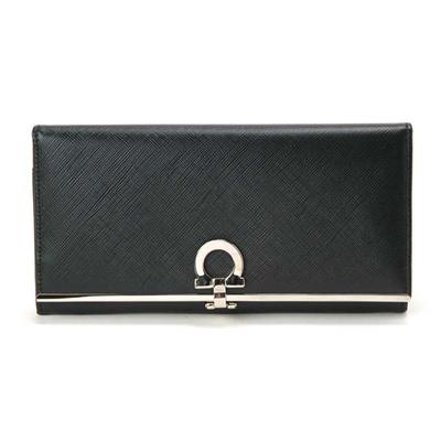 フェラガモ Salvatore Ferragamo ガンチーニ 長財布 ブラックの画像