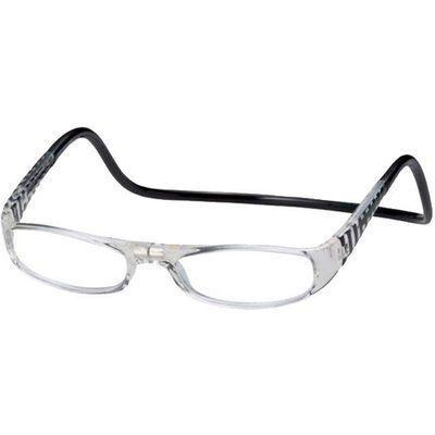 オーケー光学老眼鏡クリックユーロ(cliceuro)ブラック&クリアー3.0E438889H