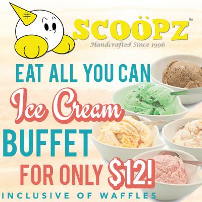 Scoopz ice cream buffet