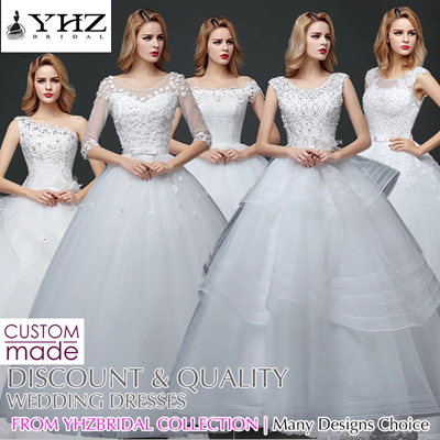 Elegant Affordable Wedding Gown Lace Dresses Bridal Plus Size Tailor Made