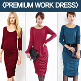 Free shipping★SIMPLE SHIRRING DRESS★ATTRACTIVE SHIRRING WORK DRESS/SOFT TOUCH N STRETCHABL/EVENT DRESS/WEDDING/DINNER