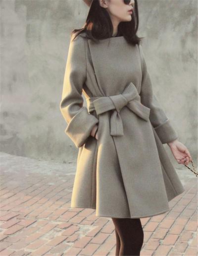 2016秋冬新型腰を持っ子款コートで修身やせウールコートか女