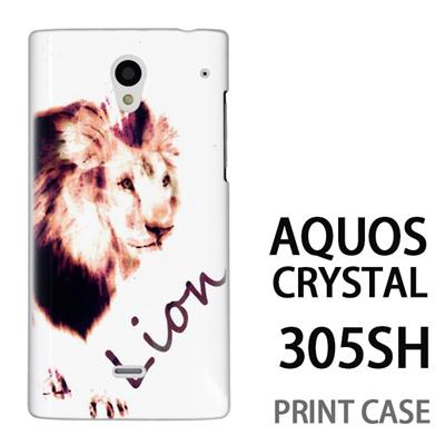 AQUOS CRYSTAL 305SH 用『No3 Lion』特殊印刷ケース【 aquos crystal 305sh アクオス クリスタル アクオスクリスタル softbank ケース プリント カバー スマホケース スマホカバー 】の画像