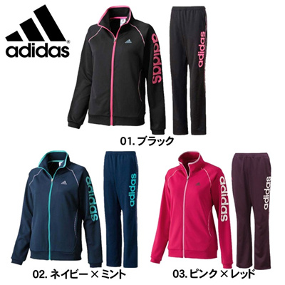アディダス ACTIVE TRANING リニアジャケット&パンツ ADIDAS LADIES JERSEY JACKET PANTS SET                  JED81 JED82の画像