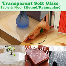 Transparent PVC Mat# Transparent Soft Tampered Glass Table Mat for Table / Floor/ Waterproof Tablecloths PVC soft Table Mat transparent table Protector cloth plastic table mat coffee table