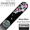 Glass Nail Files with Swarovski Crystal - From $7.90 to $17.90 - Available in Travel or Medium Sizes