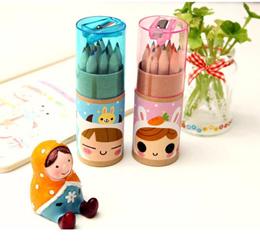 Cute Coloring Pencils Sharpener Kids Boy Girl Stationery Goodies Bag Student Gift
