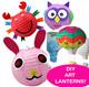 Lanterns! Mid Autumn Festival! Latest Design 2015! DIY Art Lanterns! Decorate Your Own Paper Lanterns / Hot Air Balloon Lanterns / 7 Colour LED Light Stick / Mid Autumn Festival / Mooncake
