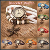 ★ Latest Models ★ Bracelet Watches for Women Girl Children Students Kids Adult Ladies Fashion Casual Wrist Watch Style Quartz Premium Leather Vintage Key Chain Ring Pocket Bag Outdoor Sports Gifts