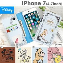 [iPhone 7専用]ディズニーキャラクター/Book Style Case