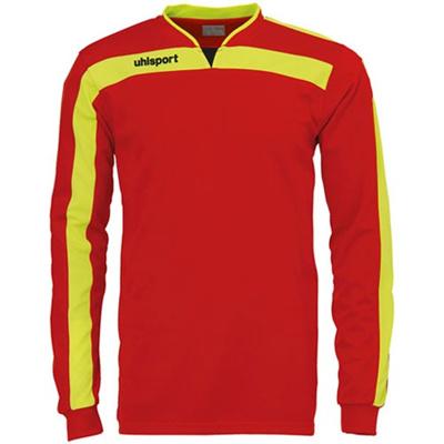 ウールシュポルト(uhlsport) リガ ゴールキーパーシャツ 1005571 RED/フローイエロー 【サッカーウェア ウエア GK 長袖】の画像