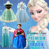 ❤New Arrival❤FROZEN Princess Dresses ❤CUTE and PRETTY flower girl Dress★Little Girl Party Dress/ Children fashion ★ ANNA ELSA Frozen Elsa Anna/accessories/Cinderella Princess/Tiara