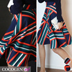 ★ Korean Fashion ★ 2449 / Best New Product / Special Price / fast Shipping / stripe / office look / A-line / flare / skirt