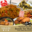 [Crab at Bay] Bundle Set for 4pax. Assam Seafood Pot/Fish Head/Chicken/Toufu/Salted Egg Fish Skin