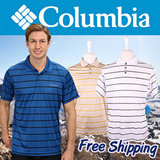 [Columbia] Utilizer Stripe Polo Shirts Local Free Shipping