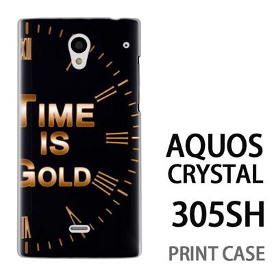 AQUOS CRYSTAL 305SH 用『No3 Time is GOLD』特殊印刷ケース【 aquos crystal 305sh アクオス クリスタル アクオスクリスタル softbank ケース プリント カバー スマホケース スマホカバー 】の画像