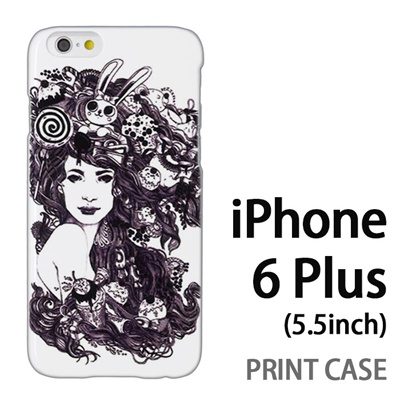 iPhone6 Plus (5.5インチ) 用『0713 幻想的な女性』特殊印刷ケース【 iphone6 plus iphone アイフォン アイフォン6 プラス au docomo softbank Apple ケース プリント カバー スマホケース スマホカバー 】の画像