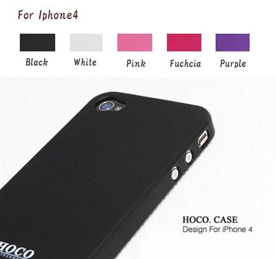 ☆HOCO iphone4 対応プラスチックケース♪iPhone4用 スマート ケース カバー 3点セット☆ 【即納商品】【メール便送料無料】iPhone4 case ケース(アイフォン4専用) 液晶の画像