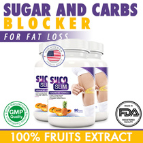 $10 REBATE NOW!! FREE QUICK DELIVERY! [90 Days] SucoSlim 5X more Weight Loss / Diet  - Sugar Carbs Blocker Burns Fat