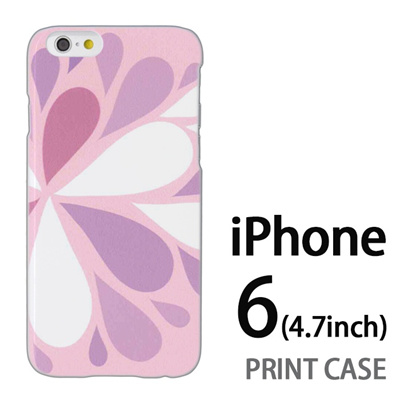 iPhone6 (4.7インチ) 用『1215 コミカル雪結晶 ピンク』特殊印刷ケース【 iphone6 iphone アイフォン アイフォン6 au docomo softbank Apple ケース プリント カバー スマホケース スマホカバー 】の画像
