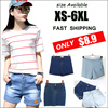 2016 Women Korean high waisted denim shorts / Ms. easing significantly thin big code trousers leisure curling AA shorts★XS~ 7XL Denim shorts / Jeans / leggings / pants limited time offer