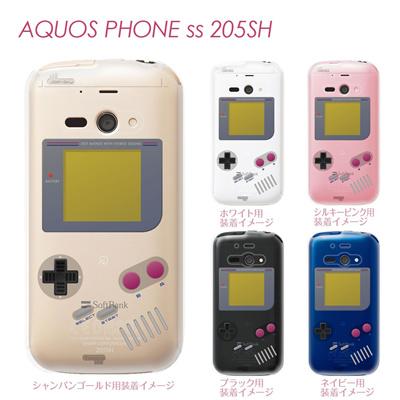 【AQUOS PHONE ss 205SH】【205sh】【Soft Bank】【カバー】【ケース】【スマホケース】【クリアケース】【クリアーアーツ】【懐かしのゲーム機】 08-205sh-ca0075の画像