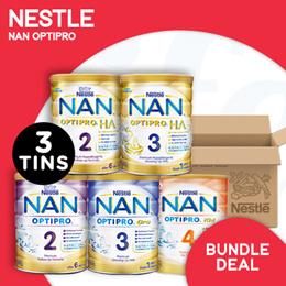 [NESTLÉ]【RESTOCKED!】Nan Optipro/HA/Kid hypoallergenic formulated milk【BUNDLE OF 3 TINS!】