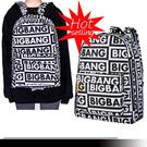 [週末限定]Bigbang ロゴ入りリュック★超人気スターBigbang 同じデザインリュック★周辺バック★TOP ファッションな恋人・学生・メンズ・レディースバック・リュック