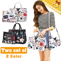 (1+1) ◆Cute Cartoon 2 in 1 Bags◆ Shoulder+Tote Bags for Women/ 2 colors
