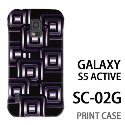 GALAXY S5 Active SC-02G 用『No3 スクエアスタンプ 黒』特殊印刷ケース【 galaxy s5 active SC-02G sc02g SC02G galaxys5 ギャラクシー ギャラクシーs5 アクティブ docomo ケース プリント カバー スマホケース スマホカバー】の画像