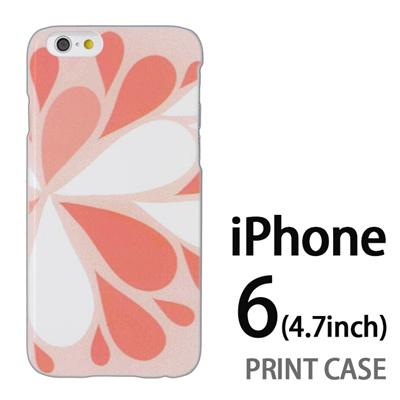 iPhone6 (4.7インチ) 用『1215 コミカル雪結晶 灰』特殊印刷ケース【 iphone6 iphone アイフォン アイフォン6 au docomo softbank Apple ケース プリント カバー スマホケース スマホカバー 】の画像