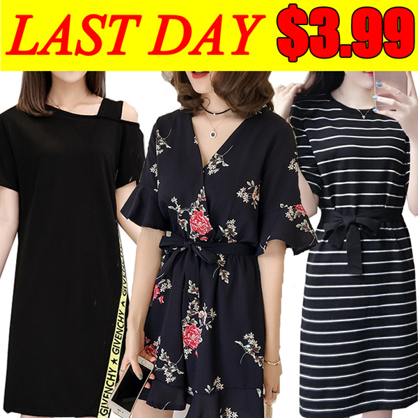 ?Last day $3.99?PLUS SIZE Summer/pants/Suit/shirt/Tops/Large size dress/Europe/Korean clothing Deals for only S$19 instead of S$0