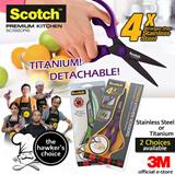 [Official E-Store] Scotch™ Kitchen Scissors - Titanium Detachable / Premium Non-Detachable